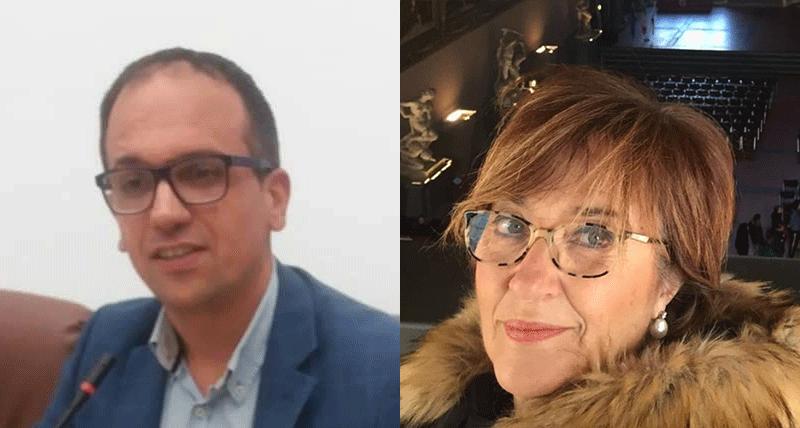 Anna Maria Brunetti e Davide Lauria, Coordinatori Provinciali Italia Viva Cosenza.