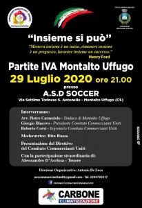 Comitato Commercianti Montalto Uniti - Locandina assemblea 29 luglio 2020