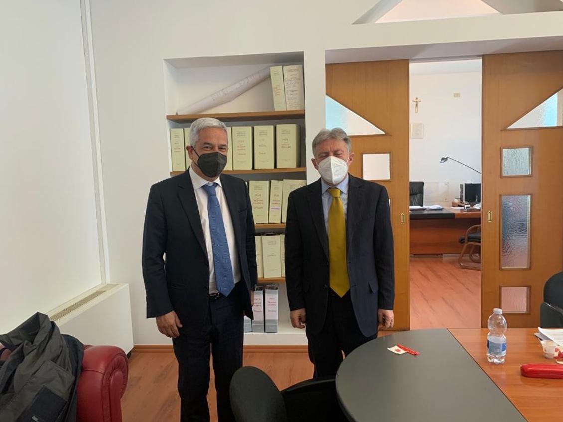 Il sindaco di Rende Marcello Manna ed il commissario Asp di Cosenza Vincenzo La Regina