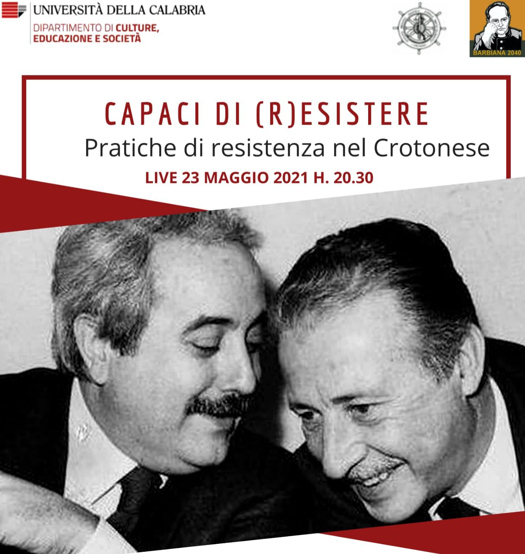 Unical: lotta alle mafie tra memoria e testimonianza nell'anniversario di Giovanni Falcone