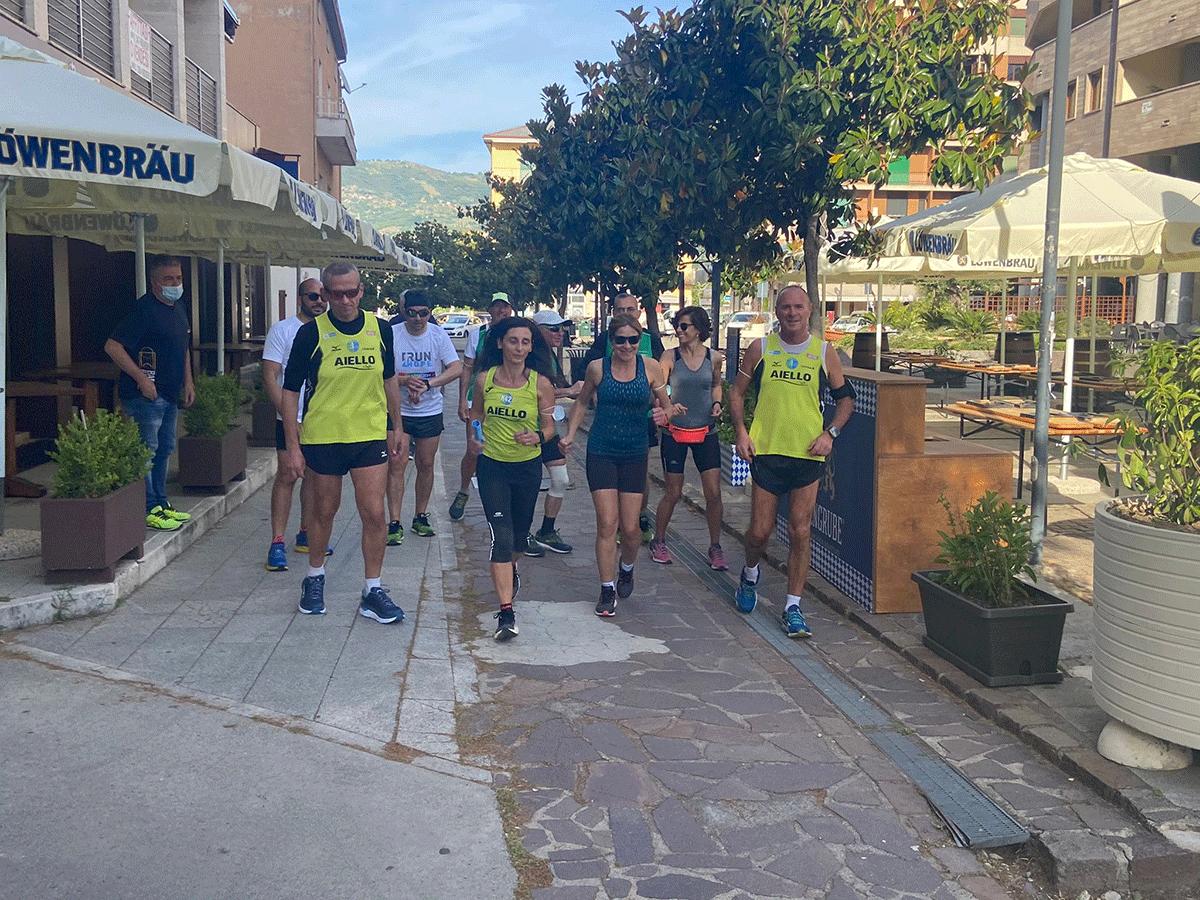 Prima tappa di RUN4HOPE da Castrovillari a Rende-Cosenza