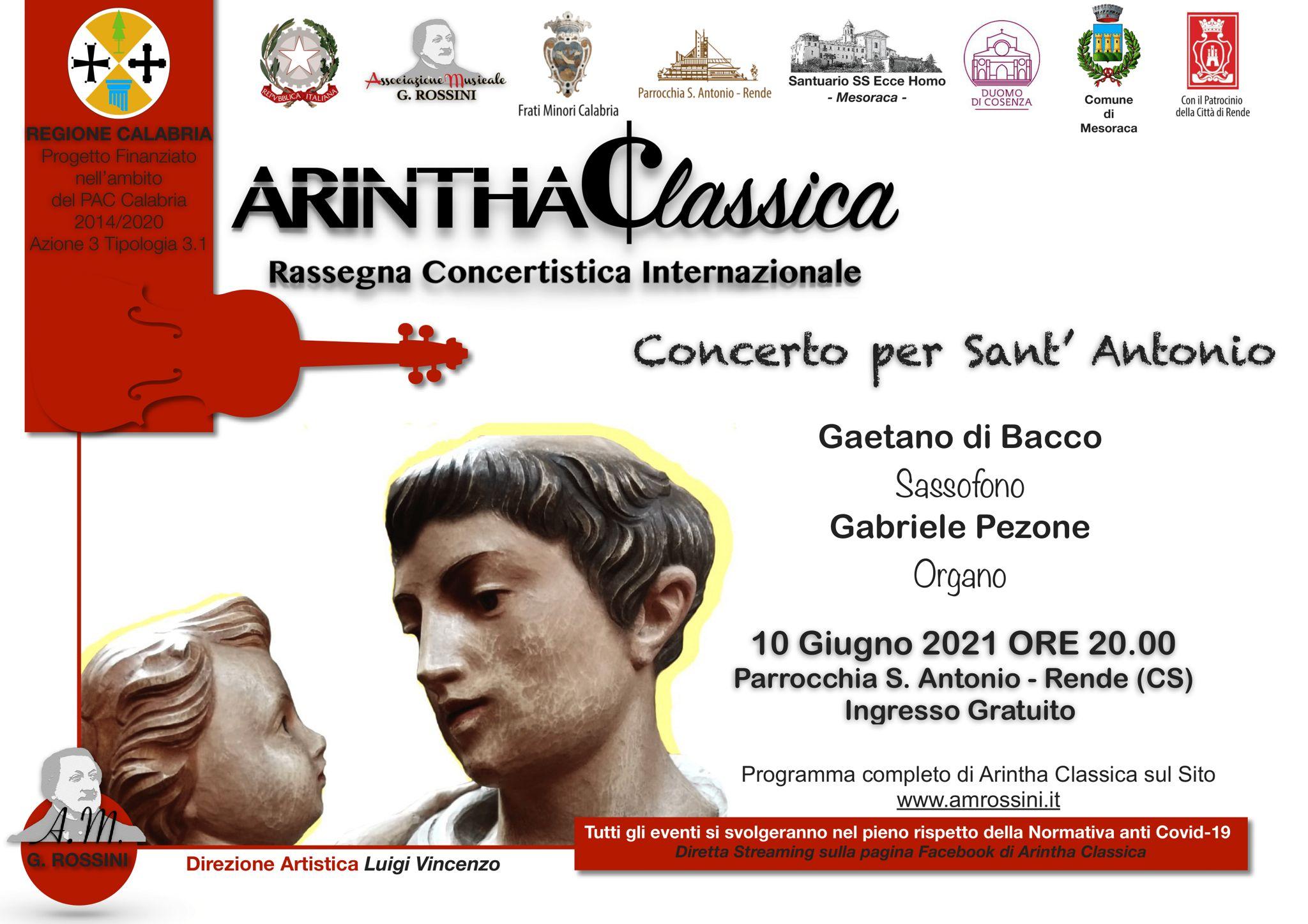 Rende, torna la rassegna concertistica internazionale Arintha Classica
