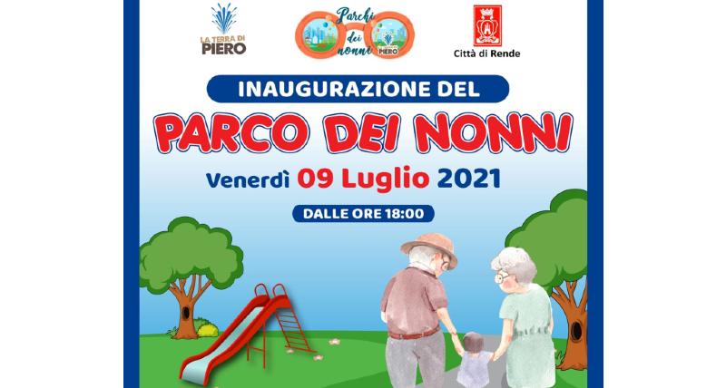 Inaugurazione a Rende del Parco dei Nonni, targato _La Terra di Piero_