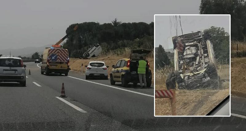 Incidente sull'autostrada del Mediterraneo fra Montalto Uffugo e Rende