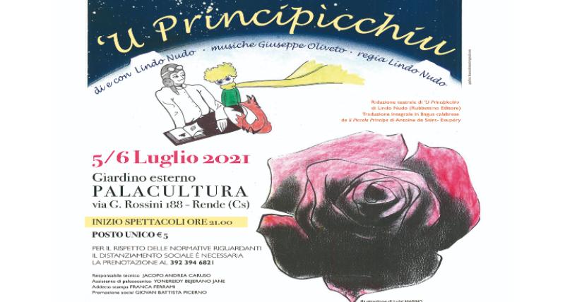 Rende, teatro Rossosimona_ torna _U Principìcchiu_, di e con Lindo Nudo