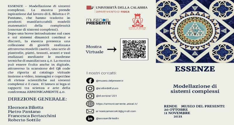 DOMANI ALLE 17.30 MOSTRA AL MUSEO DEL PRESENTE rende